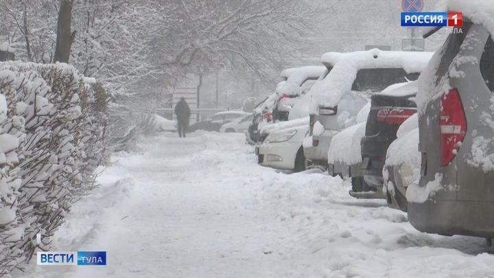 На Тульскую область надвигаются снегопады
