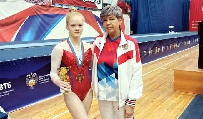 Ирина Комнова с тренером
