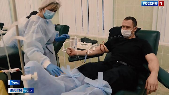 Тульские росгвардейцы приняли участие в донорской акции «От сердца к сердцу»