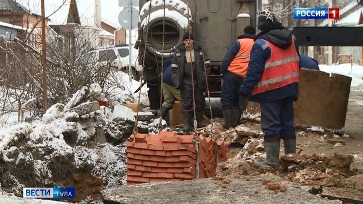 Водовод в Пролетарском округе лопнул, не дождавшись морозов
