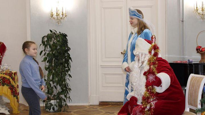 В Богородицком дворце детей принял Дед Мороз