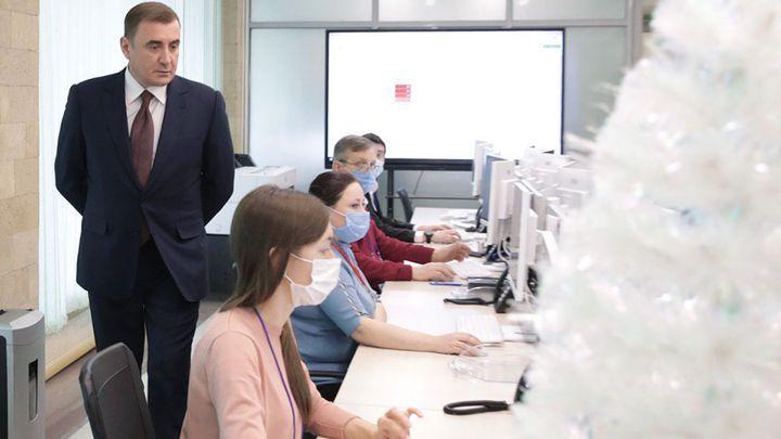Алексей Дюмин проверил, как Ситуационный центр отреагировал на снегопад