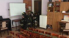 В Новомосковске пожарные провели учения в центре образования