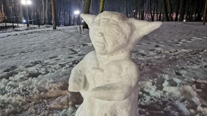 В Платоновском парке Тулы был замечен гранд-мастер Ордена джедаев Йода