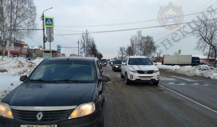 Женщину сбили на пешеходном переходе на Одоевском шоссе в Туле
