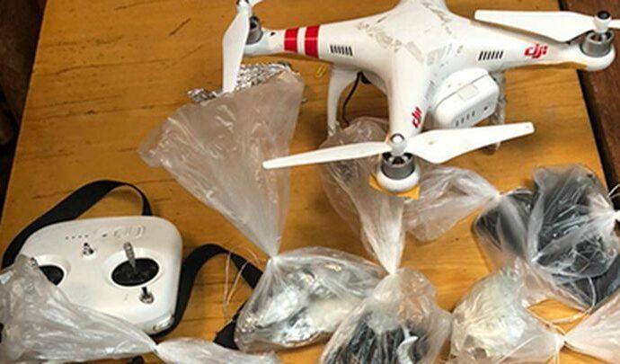 Квадрокоптер с наркотиками не долетел до плавской колонии