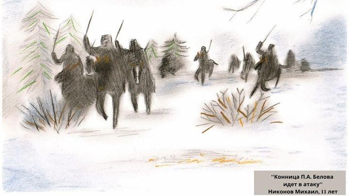 Новомосковские дети рисуют военный Сталиногорск