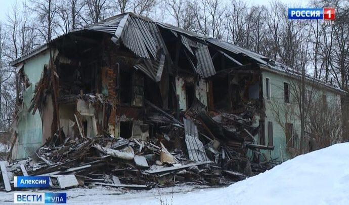 Крупный пожар в Алексине. Подробности