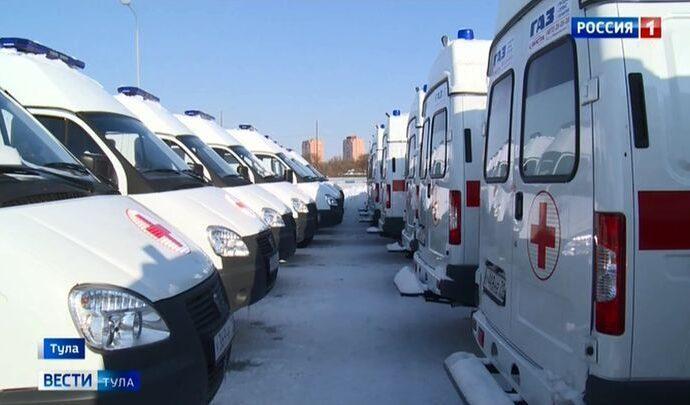 Новые машины скорой помощи отправили в районы Тульской области