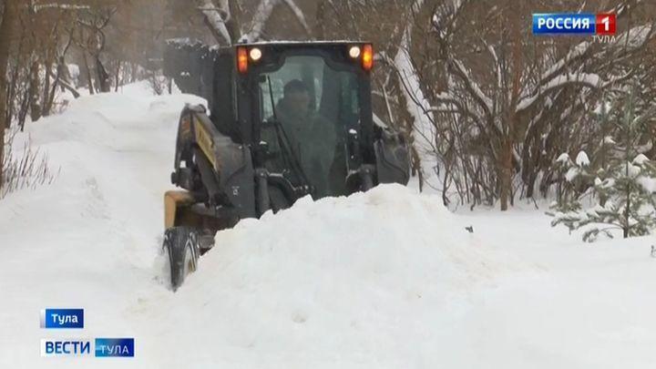 Как в Туле идёт борьба со снегом