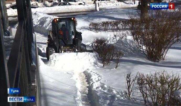 Как в Тульской области справились с выпавшим снегом