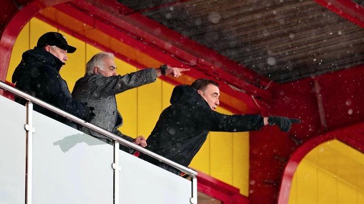 Алексей Дюмин на матче «Арсенал» – ЦСКА (2:1)