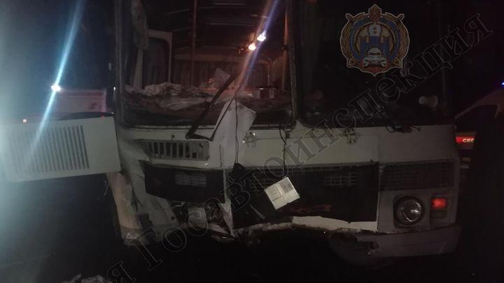 В Узловском районе пьяный водитель автобуса устроил ДТП