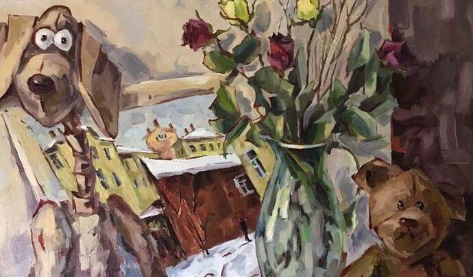 Тулякам предлагают натюрморт и пейзаж на одном холсте