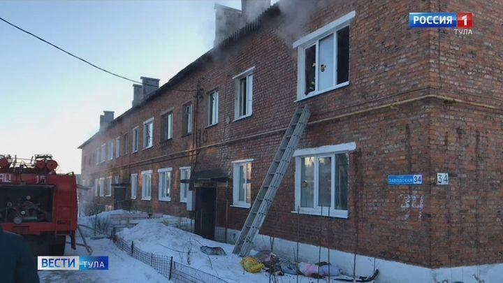 В Чернском районе сгорела квартира