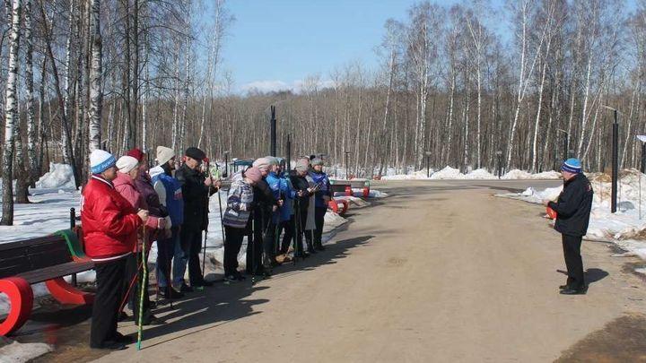 В посёлке Арсеньево прошли соревнования по скандинавской ходьбе