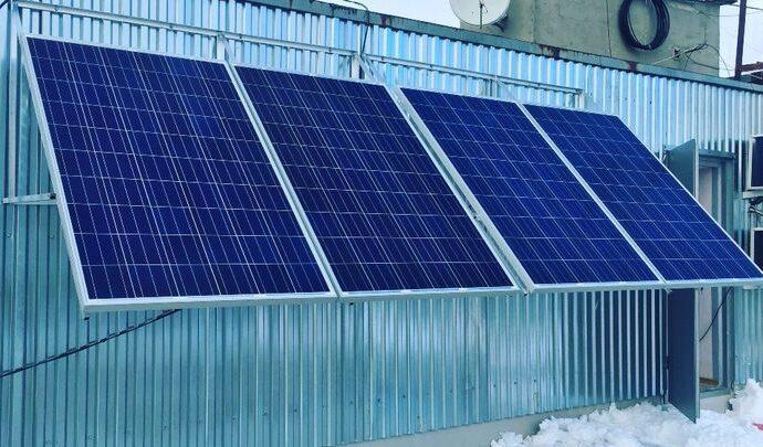 В Щёкино поступила электроэнергия, выработанная солнечными батареями