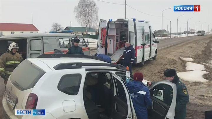 В Веневском районе прошли совместные учения медиков и спасателей