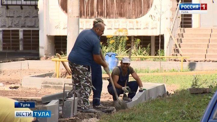 Более 300 дворов благоустроено в Туле за четыре года
