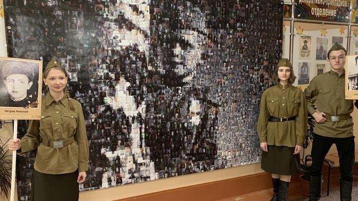 Тульские школьники составили фотопанорамы из портретов своих солдат Победы