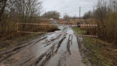 Дожди стали причиной обрушения моста в Новомосковске