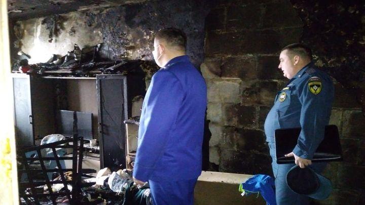 В Кимовске на пожаре погибли двое детей