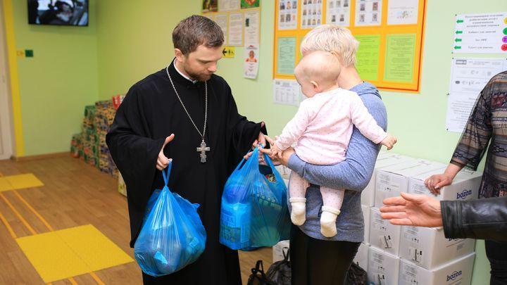 8,5 тонн продуктов получили многодетные семьи Новомосковска