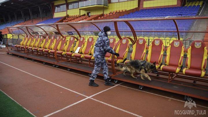 Тульские росгвардейцы готовятся к игре «Арсенала» с ЦСКА
