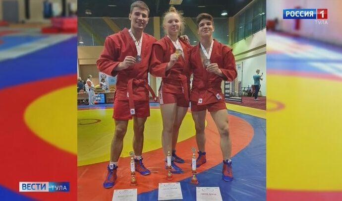 Тульские самбисты завоевали полный комплект медалей Спартакиады молодёжи России