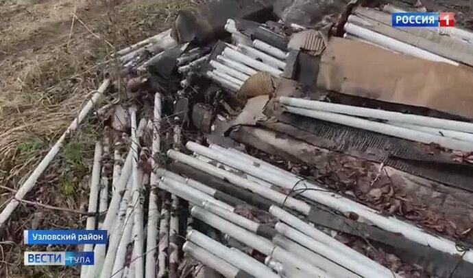 В Тульской области опять обнаружили незаконную свалку ртутьсодержащих ламп