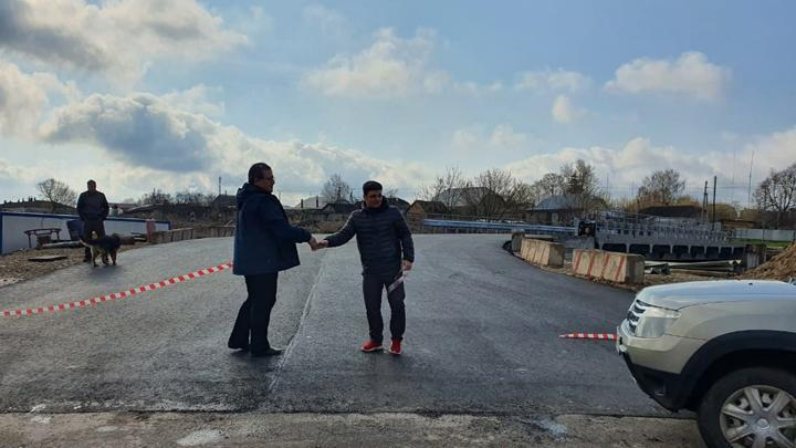 В Плавском районе после капитального ремонта открылся мост