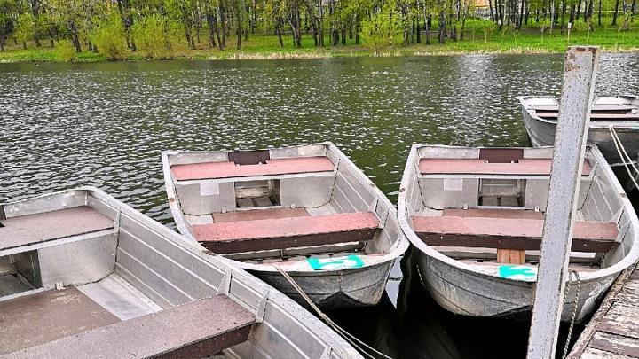 Прокат лодок на среднем пруду Центрального партка города Тулы