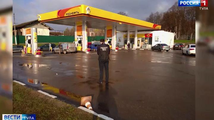 В Плавске расследуют  убийство на автозаправочной станции