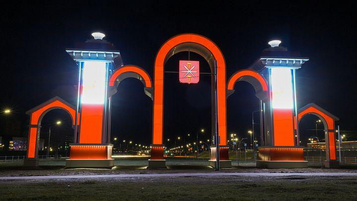Экс-новогоднюю арку оформили по-тульски