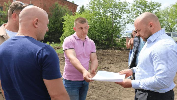 В новомосковском Холтобине появится новое общественное пространство