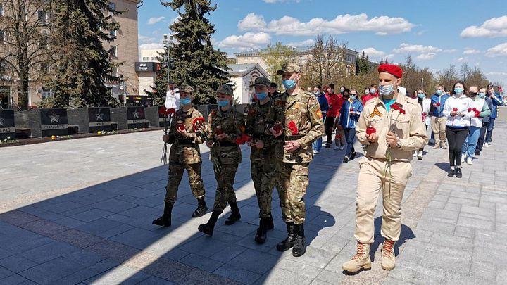 Частица Вечного огня из Александровского сада прибыла в Тулу