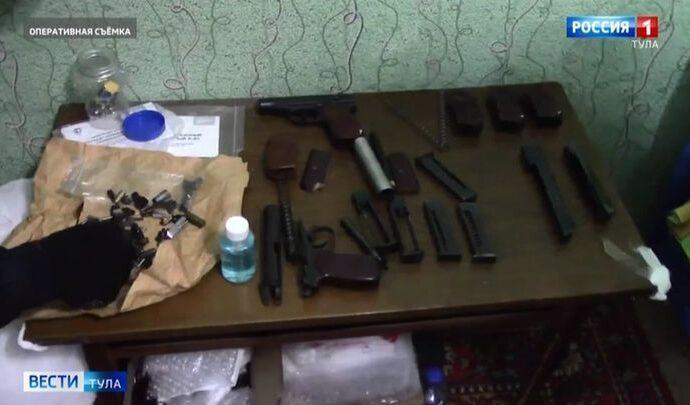 В Тульской области выявлены подпольные оружейные мастерские