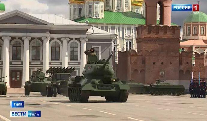На главной площади Тулы начались репетиции парада