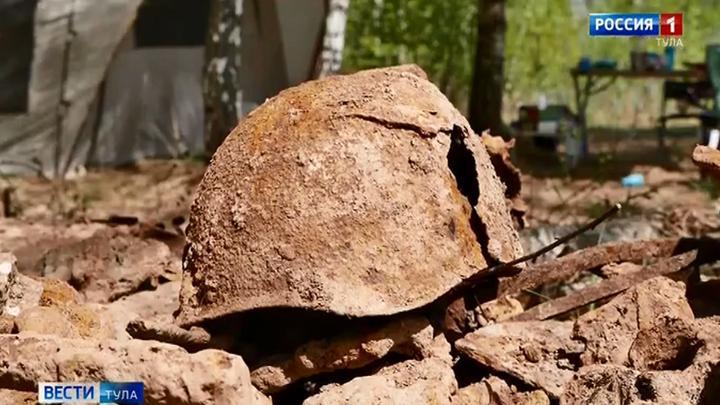 В Белевском районе найдены останки шести красноармейцев