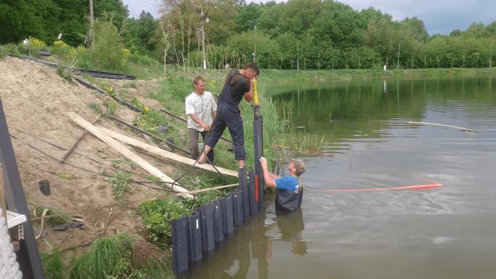 На Первомайском пруду появятся зоны для рыбалки