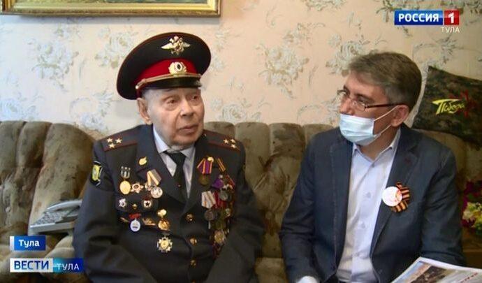 Ветеран Алексей Мосин получил медаль к 80-летию обороны Тулы