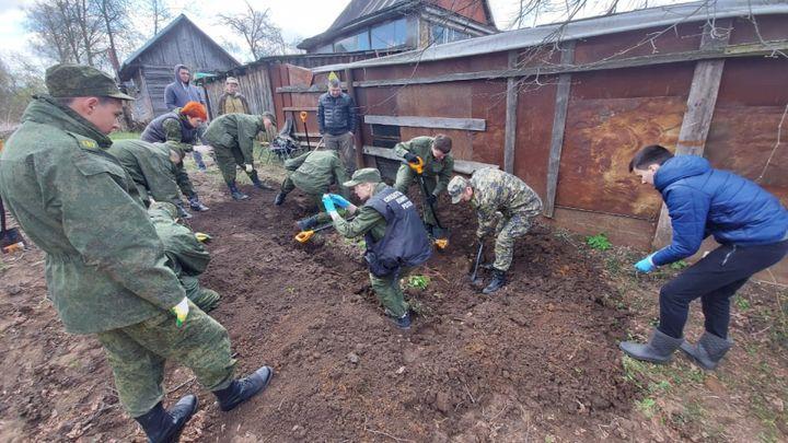 У деревни Колодезное обнаружено захоронение жителей, расстрелянных нацистами