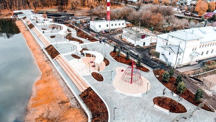 На реконструированной набережной Богородицка