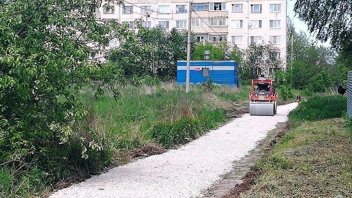 Ремонт тротуаров в Алексине