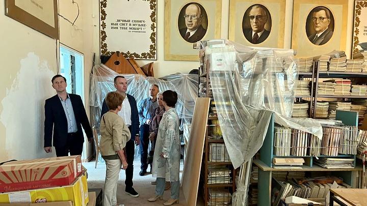 Капитальный ремонт в музыкальной школе №1 города Щёкино