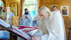 В Новомосковске совершил литургию духовник Патриарха схиархимандрит Илий