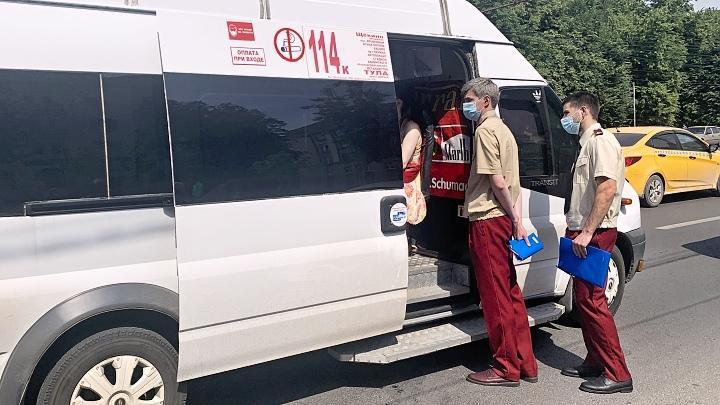 В Туле продолжаются проверки на транспорте