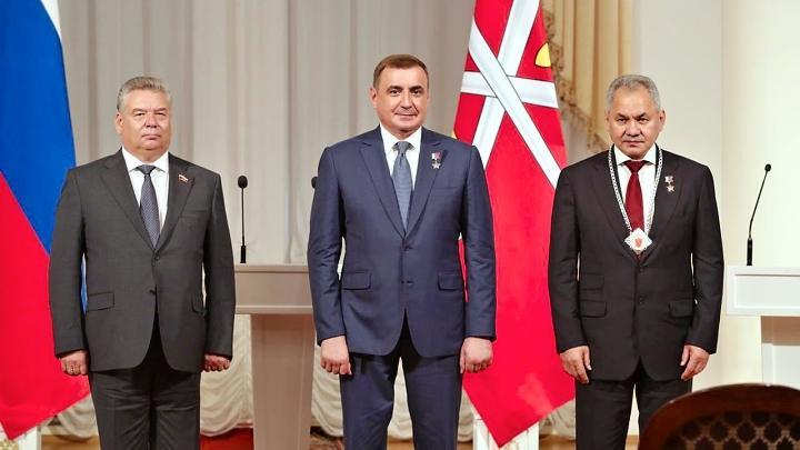 Сергей Шойгу, Алексей Дюмин и Николай Воробьёв