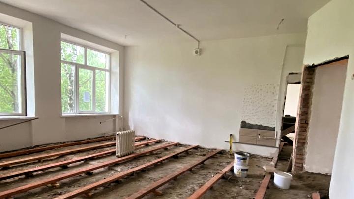 Ремонт к гимназии 18 города Алексина