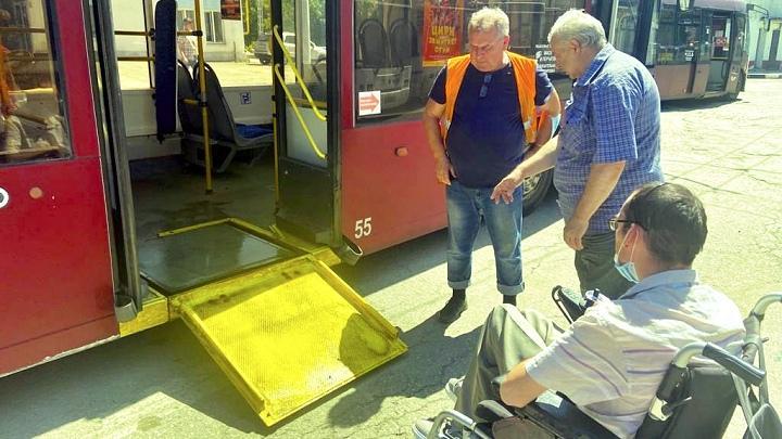 В Туле водителей общественного транспорта обучали оказанию помощи инвалидам
